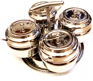 Stainless Steel Pickle & Chutney Tray | Buy Online at The Asian Cookshop.
